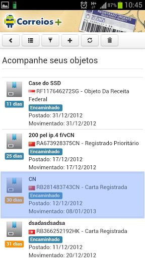 aplicativo correios rastreador android